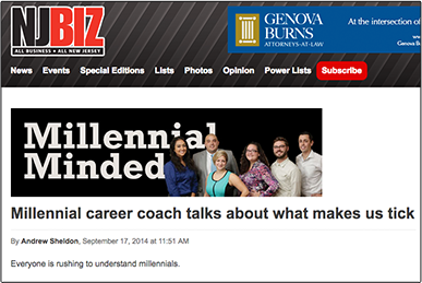 Millennial career coach talks about what makes us tick NJBIZ