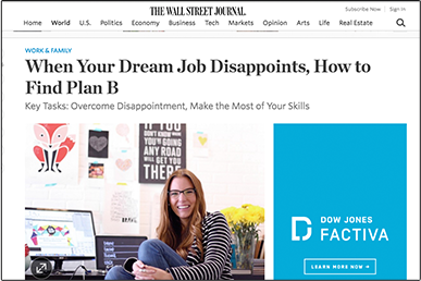When Your Dream Job Disappoints, How to Find Plan B THE WALL STREET JOURNAL