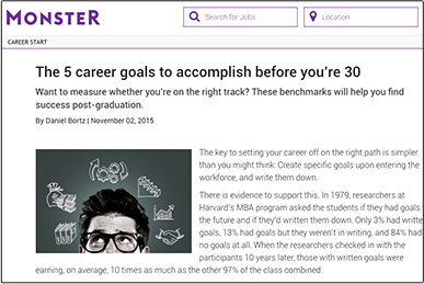 The 5 career goals to accomplish before you're 30 Monster