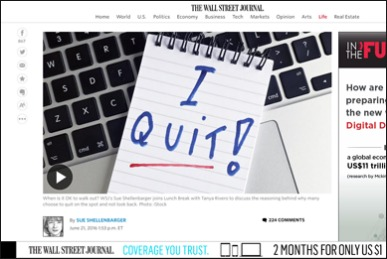 Is It Ever OK to Quit on the Spot?