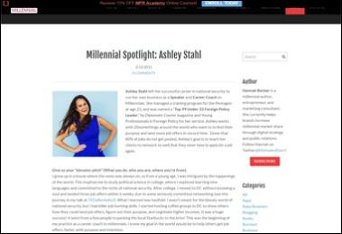 Millennial Spotlight : Ashley Stahl