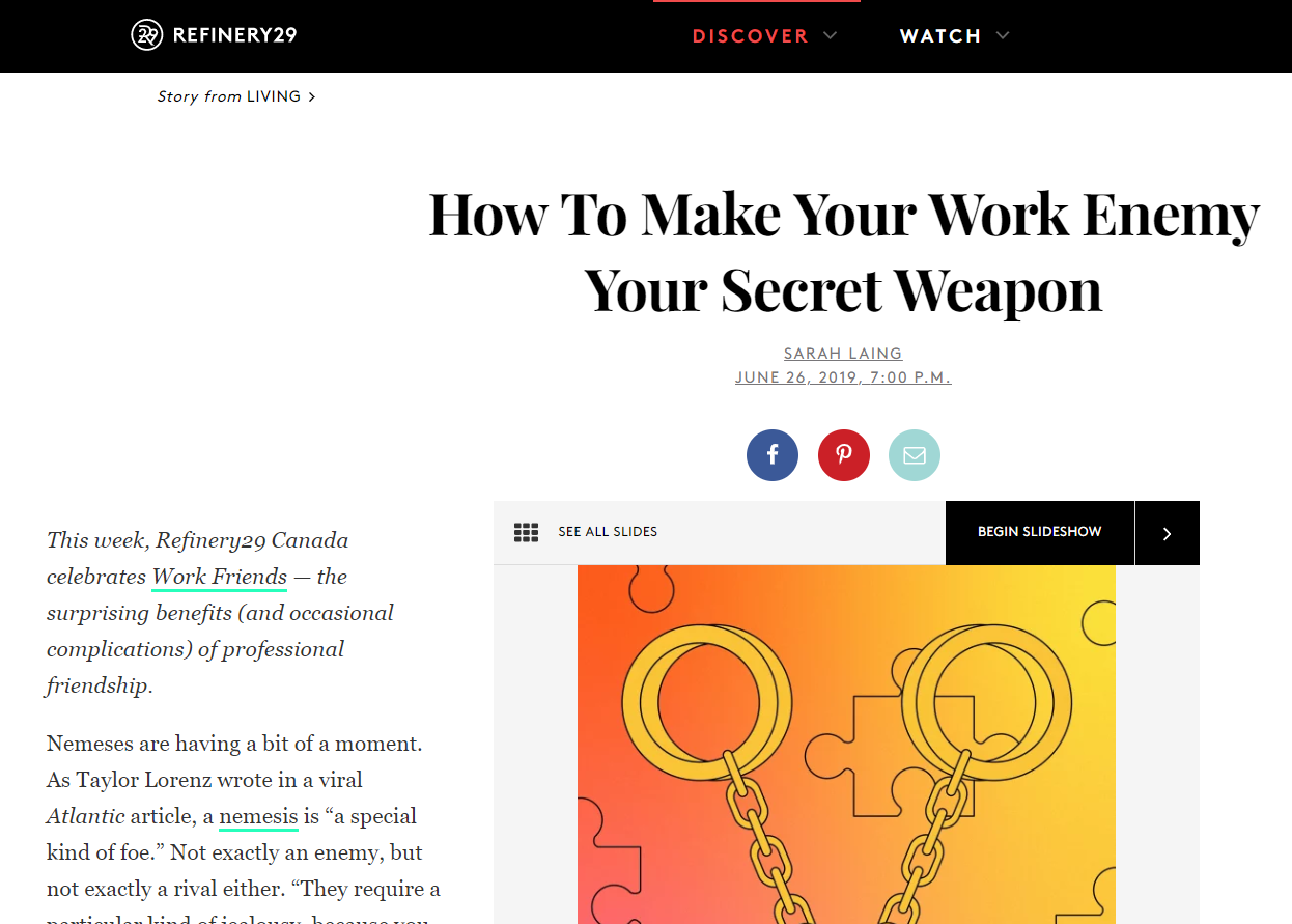 How to make your work enemy your secret weapon