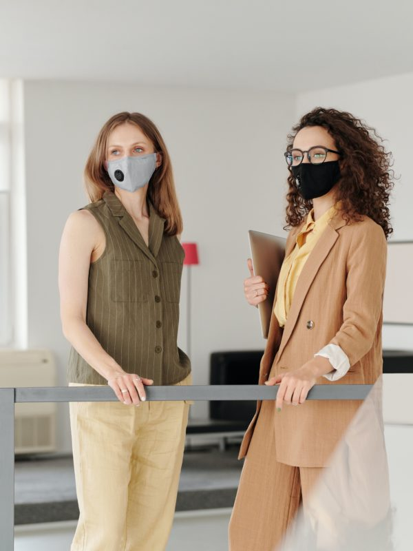 women with masks